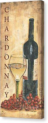 Chardonnay Wine And Grapes Canvas Print by Debbie DeWitt
