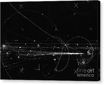 Particle Detector Canvas Print - Charged Particles, Bubble Chamber Event by Science Source