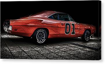 Charger Canvas Print by Martin Newman