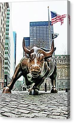 Charging Bull 3 Canvas Print by Nishanth Gopinathan