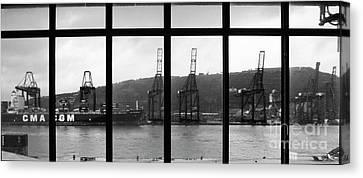 Charging Dock Of Barcelona Canvas Print