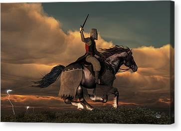 Charging Knight Canvas Print