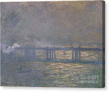 Charing Cross Bridge Canvas Print by Celestial Images