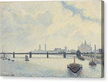 Londoners Canvas Print - Charing Cross Bridge - London by Camille Pissarro