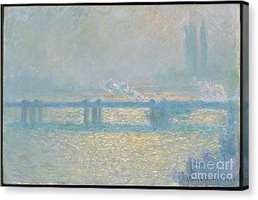 Charing Cross Bridge Canvas Print by MotionAge Designs