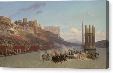 Chariot Race Canvas Print by Jean Leon Gerome