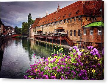 Red Roof Canvas Print - Charismatic Strasbourg France  by Carol Japp