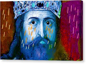 Charlemagne Crying For Faithless Europa Canvas Print