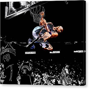 Shawn Kemp Canvas Print - Charles Barkley Hanging Around II by Brian Reaves