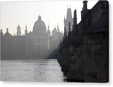 Charles Bridge At Early Morning Canvas Print by Michal Boubin
