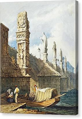 Charles Bridge Canvas Print by MotionAge Designs