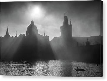 Charles Bridge Towers, Prague, Czech Republic Canvas Print