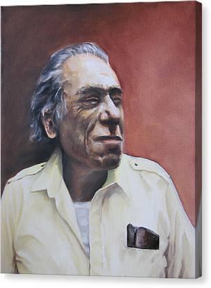 Charles Bukowski-portrait Canvas Print