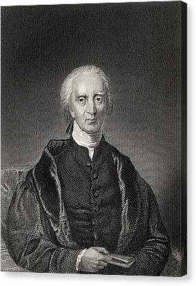 Charles Carroll Of Carrollton 1737 Canvas Print by Vintage Design Pics