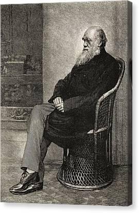 Charles Darwin,1809  1882. British Canvas Print by Vintage Design Pics