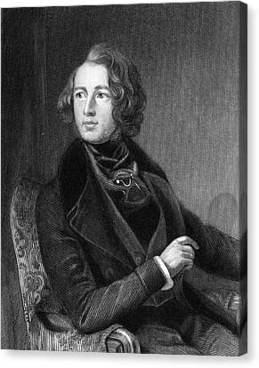 Charles Dickens (1812-1870) Canvas Print by Granger