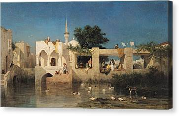 Charles Emile De Tournemine Canvas Print by Cafe in Adalia