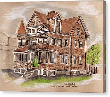 Charles Fairfield House Salem Canvas Print