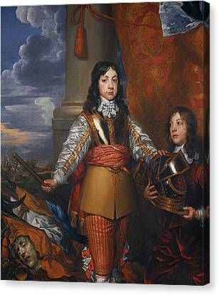 Charles II, 1630 - 1685. King Of Scots 1649 - 1685. King Of England And Ireland 1660 - 1685 Canvas Print by William Dobson
