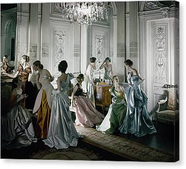 Ball Gown Canvas Print - Charles James Gowns by Cecil Beaton