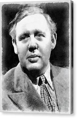 Charles Laughton Vintage Actor Canvas Print by Frank Falcon