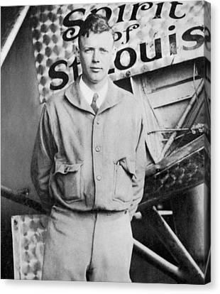 Charles Lindbergh Canvas Print by American School