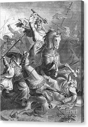 Charles Martel, Battle Of Tours, 732 Canvas Print by Photo Researchers