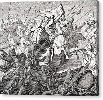 Charles Martel Canvas Print by French School
