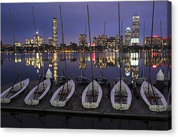 Charles River Boats Clear Water Reflection Canvas Print