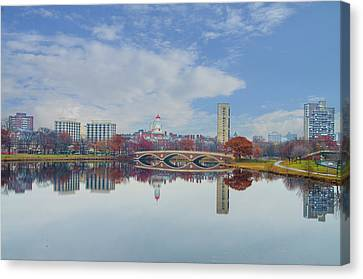 Charles River - Boston Massachusetts Canvas Print by Bill Cannon