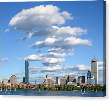 Charles River Cloud Stack Boston Ma Canvas Print by Toby McGuire