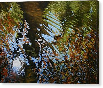 Charles River Canvas Print - Charles River Reflections by Jason Sawtelle