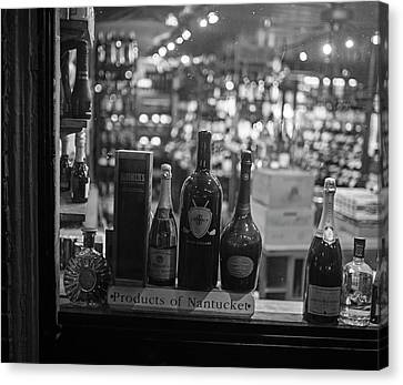 Charles Street Boston Ma Wine In The Window Canvas Print by Toby McGuire