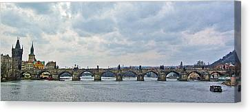 Charles Street Bridge Canvas Print by Paul Pobiak