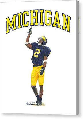 Charles Woodson Canvas Print by Chris Brown