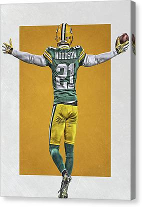 Charles Woodson Green Bay Packers Art 2 Canvas Print