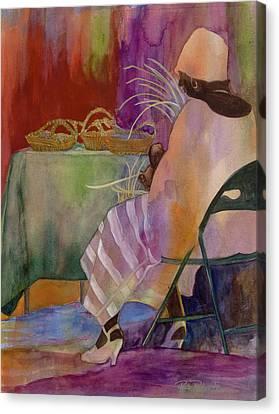 Charleston Basket Weaver Canvas Print by Paula Robertson