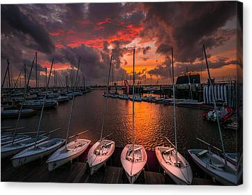 Canvas Print featuring the photograph Charleston Harbor by RC Pics