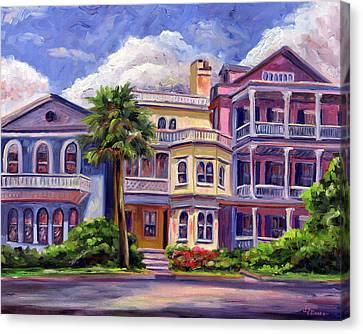 Charleston Houses Canvas Print by Jeff Pittman