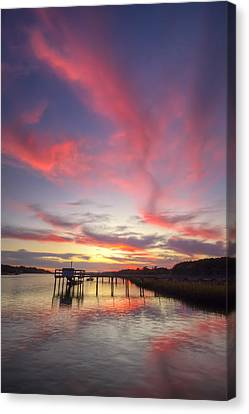 Charleston Lowcountry Sunset Canvas Print by Dustin K Ryan