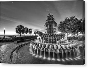 Charleston Pineapple Fountain Fine Art Image Canvas Print by Dustin K Ryan