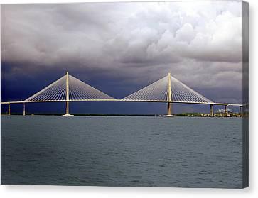 Charleston Ravenel Bridge Canvas Print by Skip Willits