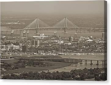 South Carolina Canvas Print - Charleston South Carolina Aerial by Dustin K Ryan
