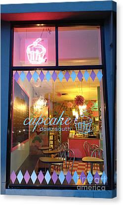 Charleston South Carolina Cupcake Downsouth Cafe - Charleston Cupcake Shop - Charleston Street Art Canvas Print