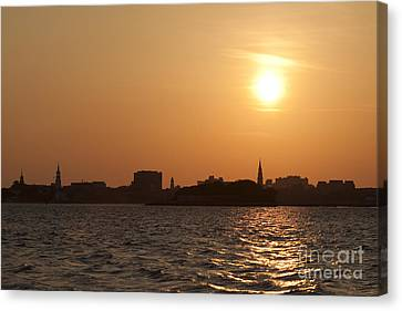 Charleston South Carolina Skyline Sunset Canvas Print by Dustin K Ryan