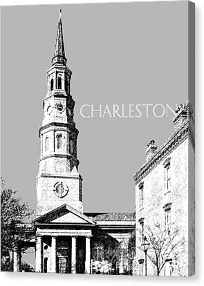 Charleston St. Phillips Church - Silver        Canvas Print by DB Artist