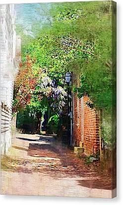 Canvas Print featuring the photograph Charlestons Alley by Donna Bentley