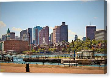 Charlestown Navy Yard Skyline Canvas Print by Kerry Conway