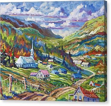 Charlevoix Inspiration Canvas Print by Richard T Pranke