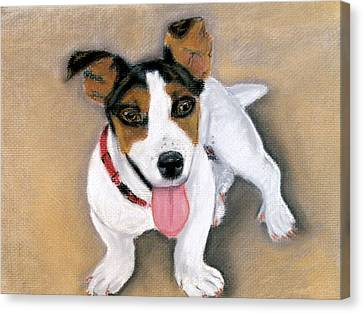 Canvas Print featuring the pastel Charley by Jan Amiss